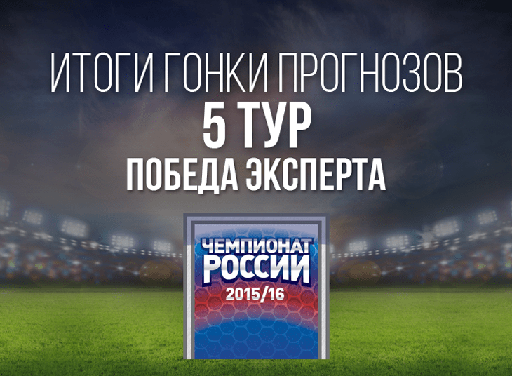 Представитель команды «РБ» Денис Казанский одержал победу в 5-м туре гонки прогнозов РФПЛ