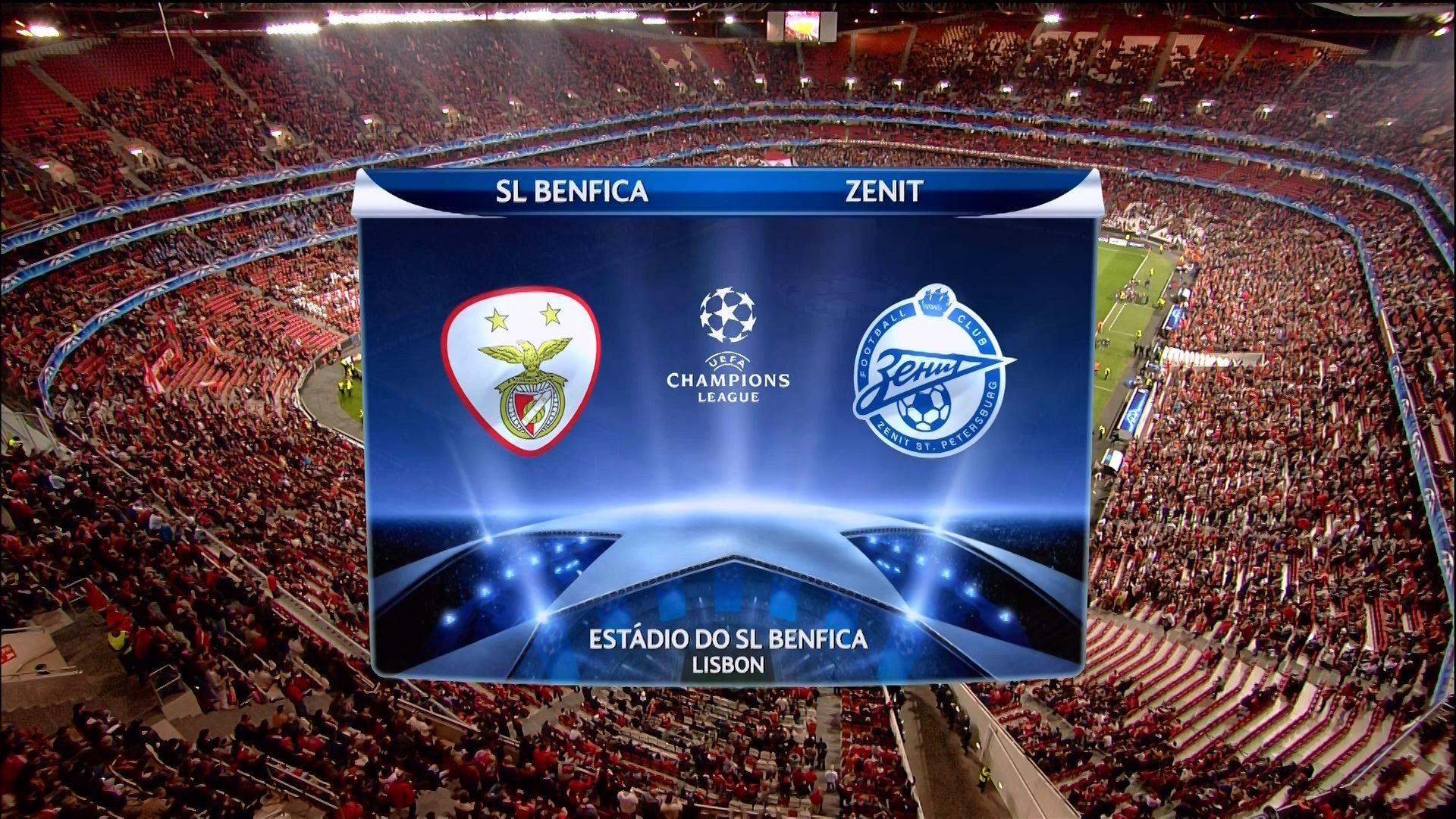 Лига чемпионов. Бенфика — Зенит. Прогноз на матч 16.02.2016