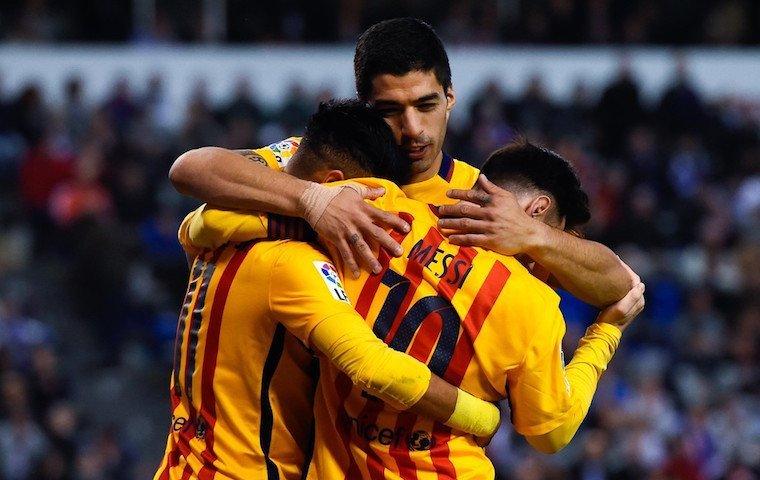 «Барселона» забила 6 голов, Суарес стал создателем покера вовтором матче кряду
