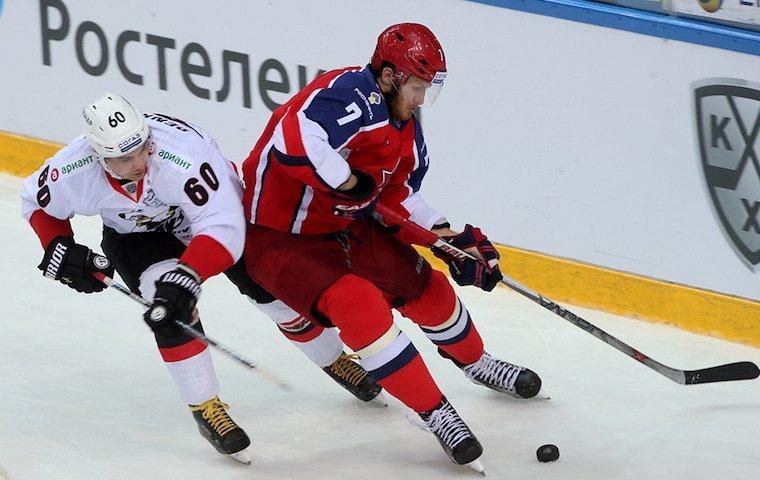 Хоккеисты ЦСКА одержали победу над «АкБарсом» вматче чемпионата КХЛ