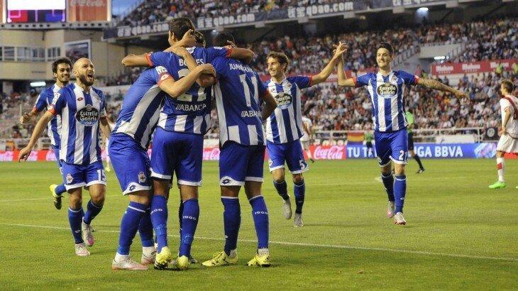 «Депортиво» победил «Малагу» вматче чемпионата Испании