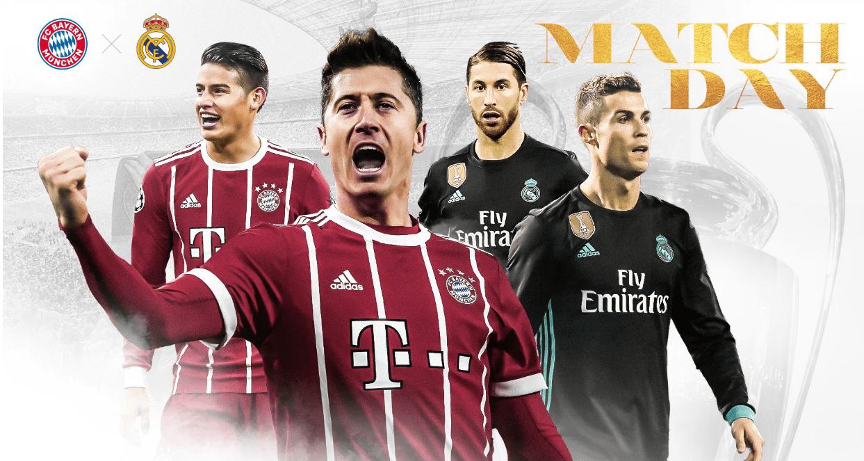 Бавария — Реал Мадрид: прогноз на матч 12.04.2017