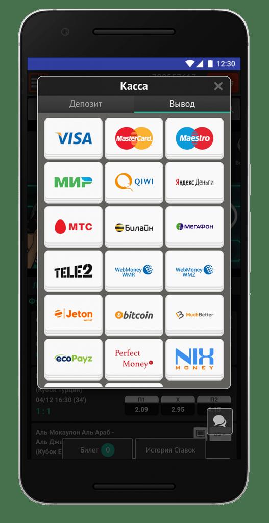 вывод средств банковскими картами