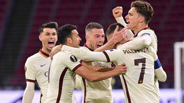 «Аякс» дома проиграл «Роме» в первом четвертьфинальном поединке Лиги Европы